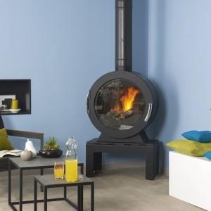 Poêle à bois bleu azur - HCL