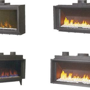Plusieurs modèles cheminées à gaz - HCL